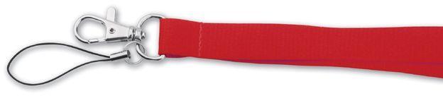 VALMONT textilní šňůrka na krk s karabinou, červená