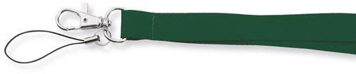 VALMONT textilní šňůrka na krk s karabinou, zelená