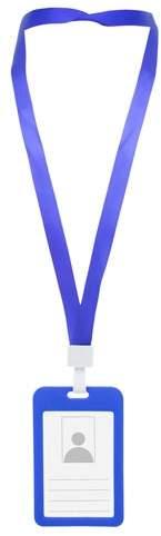 Lanyard s kapsou na jmenovku, modrá