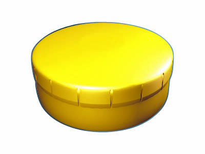 Clik Clak 45 mm žlutý s potiskem