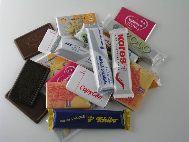 Čokoládka 22g mléčná s potiskem