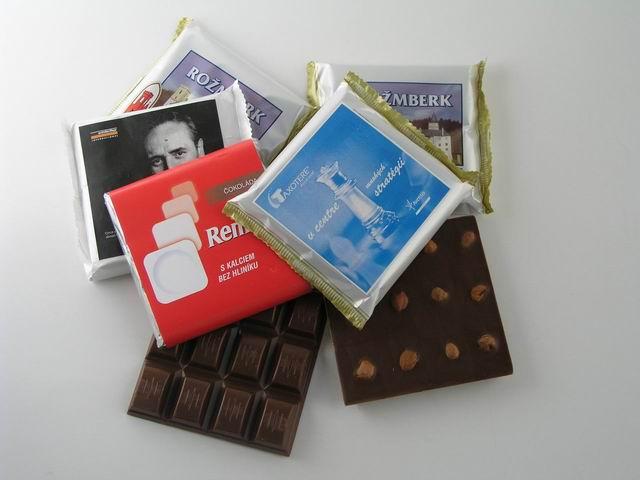 Čokoládka 85g mléčná s potiskem