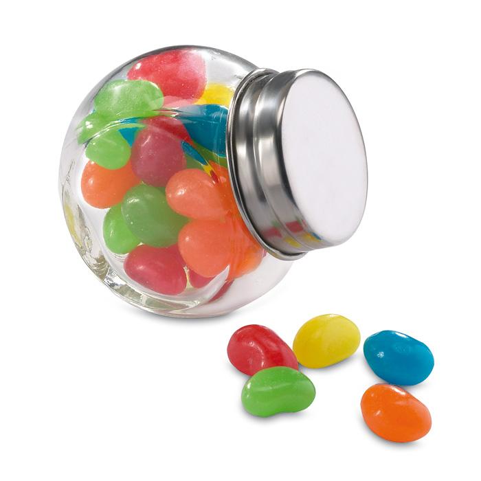 Různobarevné bonbóny s potiskem