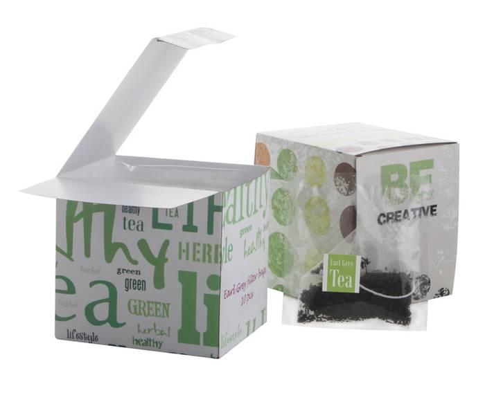 CreaTea Box pyramidový sáček čaje s potiskem