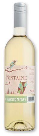 CHARDONNAY LA FONTAINE francouzské bílé víno, 750 ml s potiskem