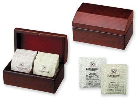 STEAM sada čajů Sonnentor 2x8 ks v dřevěné krabici, SONNENTOR s potiskem