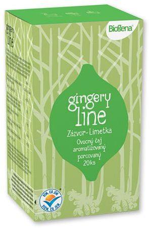 LIMEGI ovocný čaj zázvor-limetka, 20 sáčků s potiskem