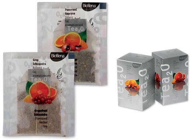 DUOPACK zelený a bylinný aromatizovaný čaj, 40 sáčků s potiskem
