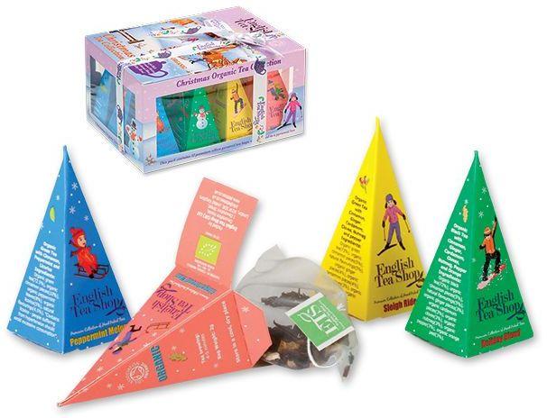 WINTER PYRAMIDS BIO sypaný čaj, 12 ks pyramidových čajů, 24g s potiskem
