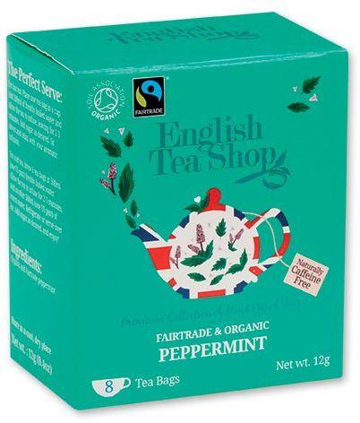 LITTLE MINT BIO mátový čaj - 8 sáčků, 12 g, tyrkysová