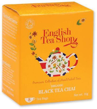 LITTLE CHAI BIO černý čaj Chai - 8 sáčků, 16 g, tmavě žlutá