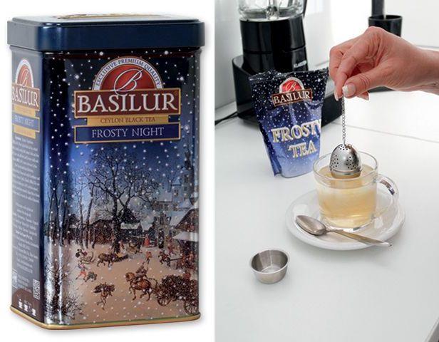 FROSTY FESTIVAL černý aromatizovaný sypaný čaj, 85 g s potiskem
