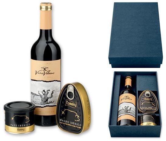 LISABON dár.sada-červené víno, šunka, paštika s potiskem