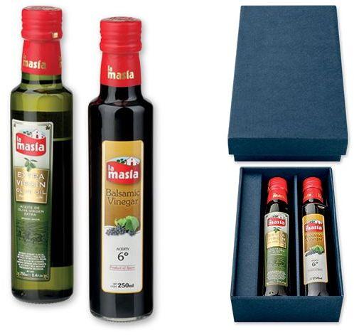 MASIA dárková sada olivového oleje s balsamikovým octem s potiskem