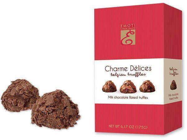 FLAKED MILK lanýže z mléčné čokolády, 175 g, tmavě růžová s potiskem