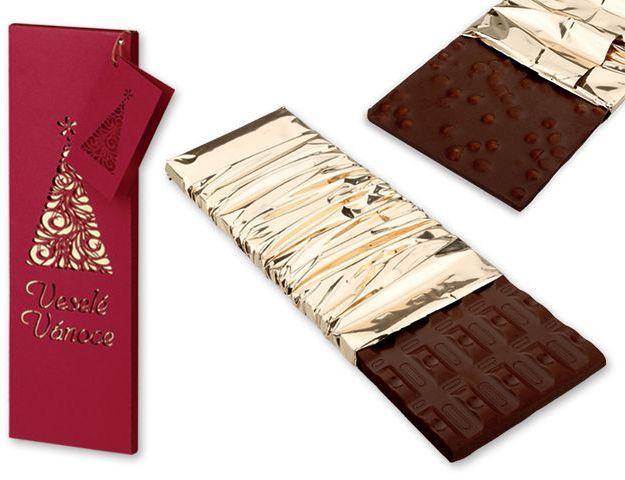 BORDEAUX TREE hořká čokoláda s kousky brusinek a višní, 225 g, bordó s potiskem