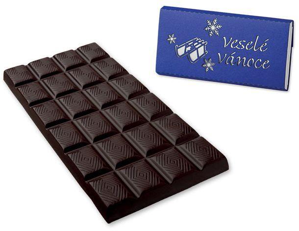SMOOTH SLEDGE hořká čokoláda 68% s kakaovými boby, 100 g, modrá s potiskem