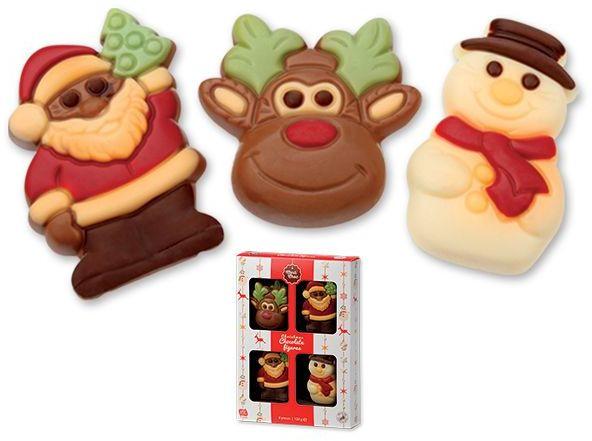 FUNNY CHRISTMAS čokoládové postavičky v dárkovém balení, 60g s potiskem
