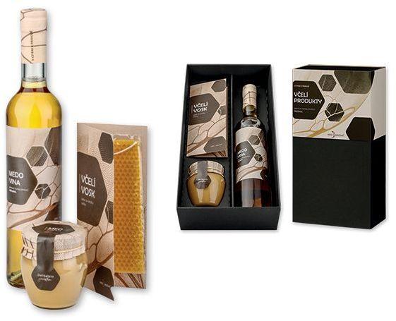 MEAD BOX dárková sada-medovina 500 ml, med 250 g, sada na výrobu svíček s potiskem