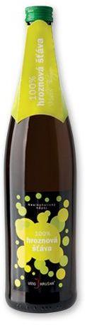 WHITE GRAPE 100% hroznová šťáva z odrůdy Müller Thurgau, 750 ml s potiskem