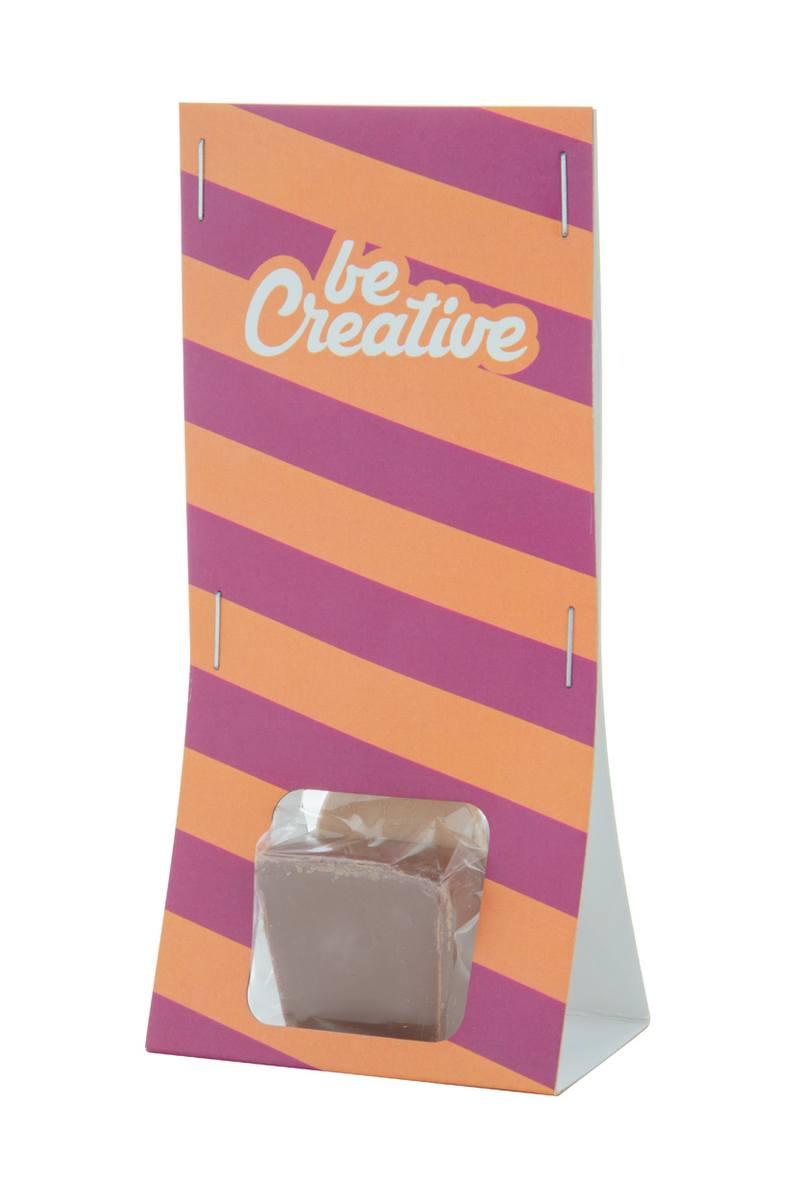 ChocoSpoon horká, mléčná čokoláda na dřevěné lžičce
