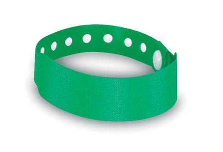 Identifikační zelená páska na ruku s potiskem