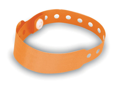 Identifikační oranžová páska na ruku