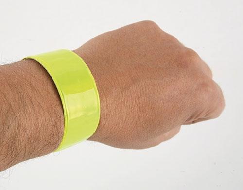 Žlutý reflexní náramek 40 cm