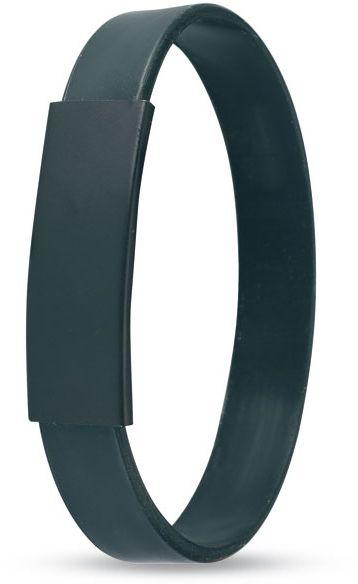 Silikonový náramek černý
