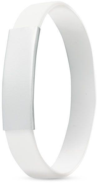 Silikonový náramek bílý s potiskem