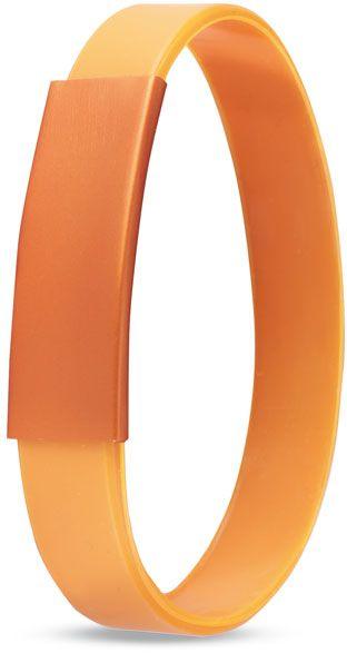 Silikonový náramek oranžový