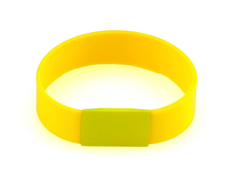 Baren žlutý náramek s potiskem