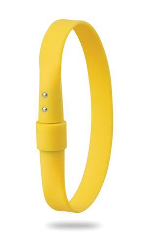 Žlutý náramek s dotykovým perem
