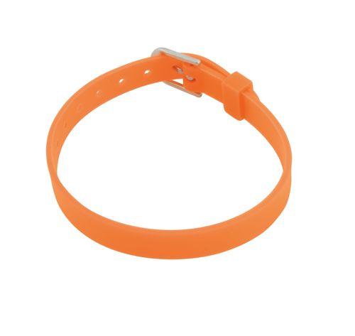 Tonis oranžový náramek s potiskem