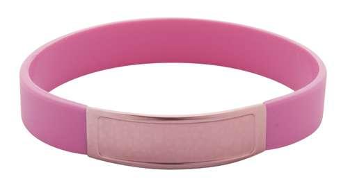 Truddy růžový pásek na ruku s potiskem