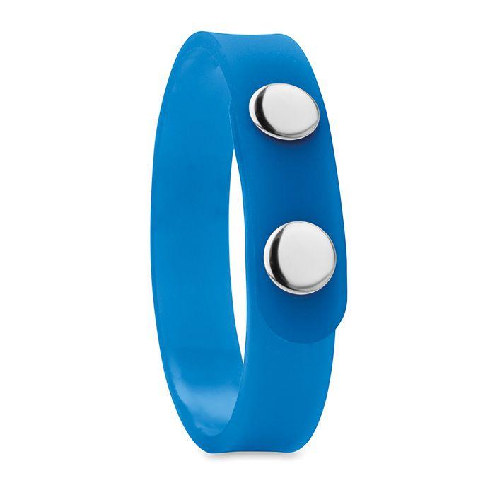 PVC modrý náramek se zapínáním s potiskem