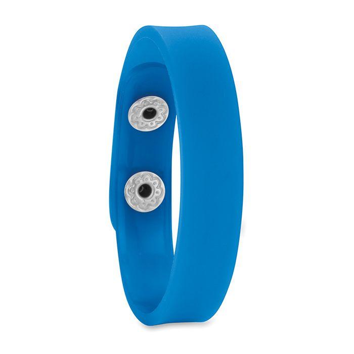 PVC modrý náramek se zapínáním