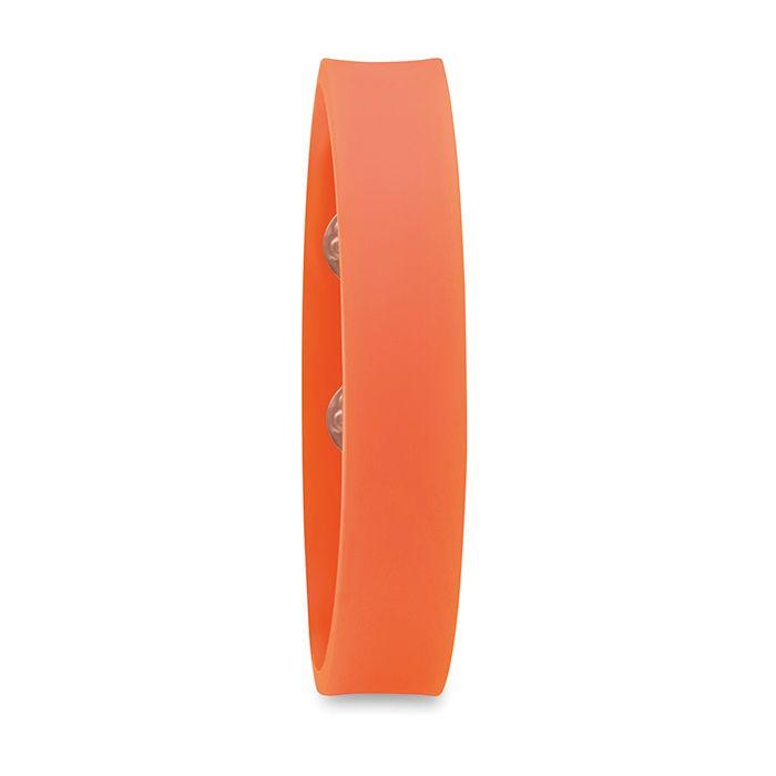 PVC oranžový náramek se zapínáním