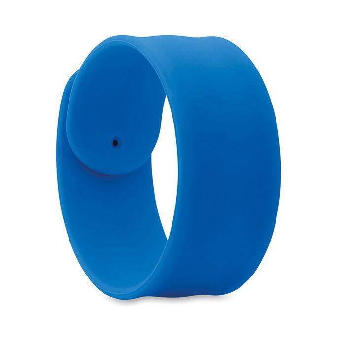 Silikonový náramek na ruku modrý