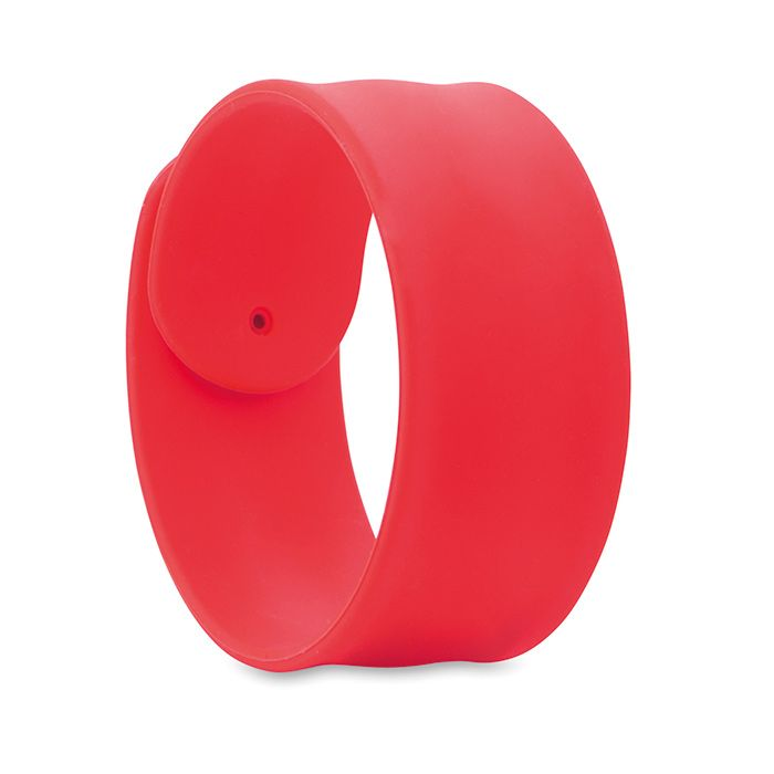 Silikonový náramek na ruku červený