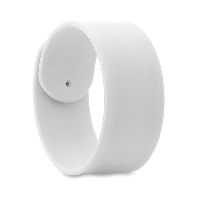 Silikonový náramek na ruku bílý