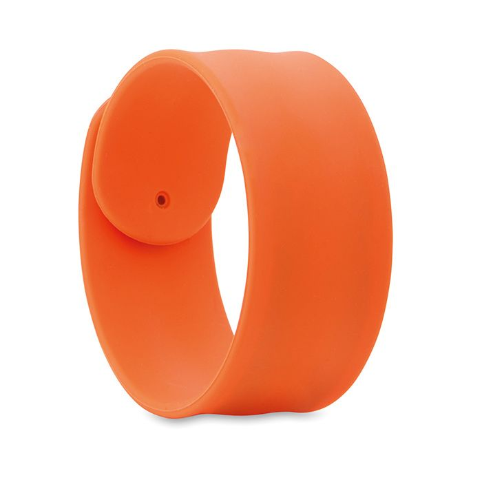 Silikonový náramek na ruku oranžový