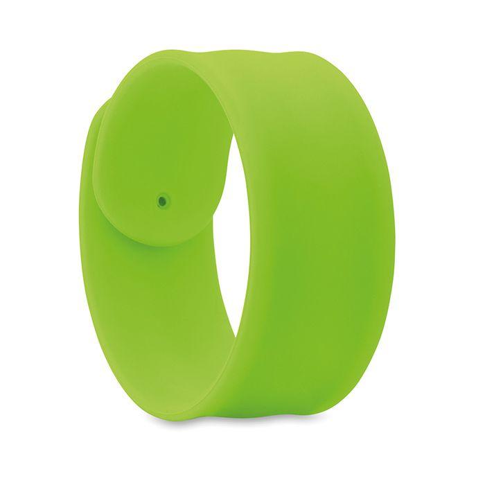 Silikonový náramek na ruku limetkový