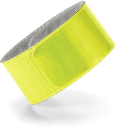 Reflexní náramek žlutý s potiskem