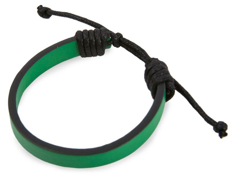 Nastavitelný náramek černo- zelený