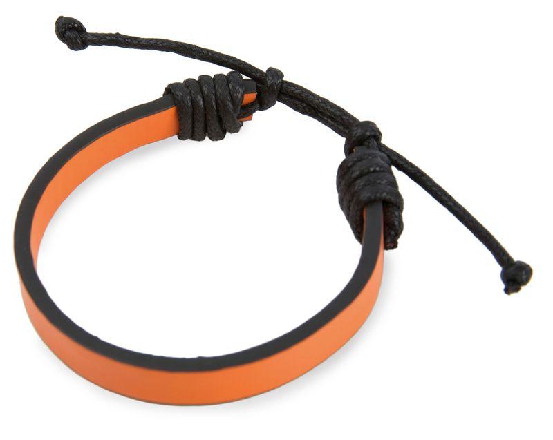 Nastavitelný náramek černo-oranžový