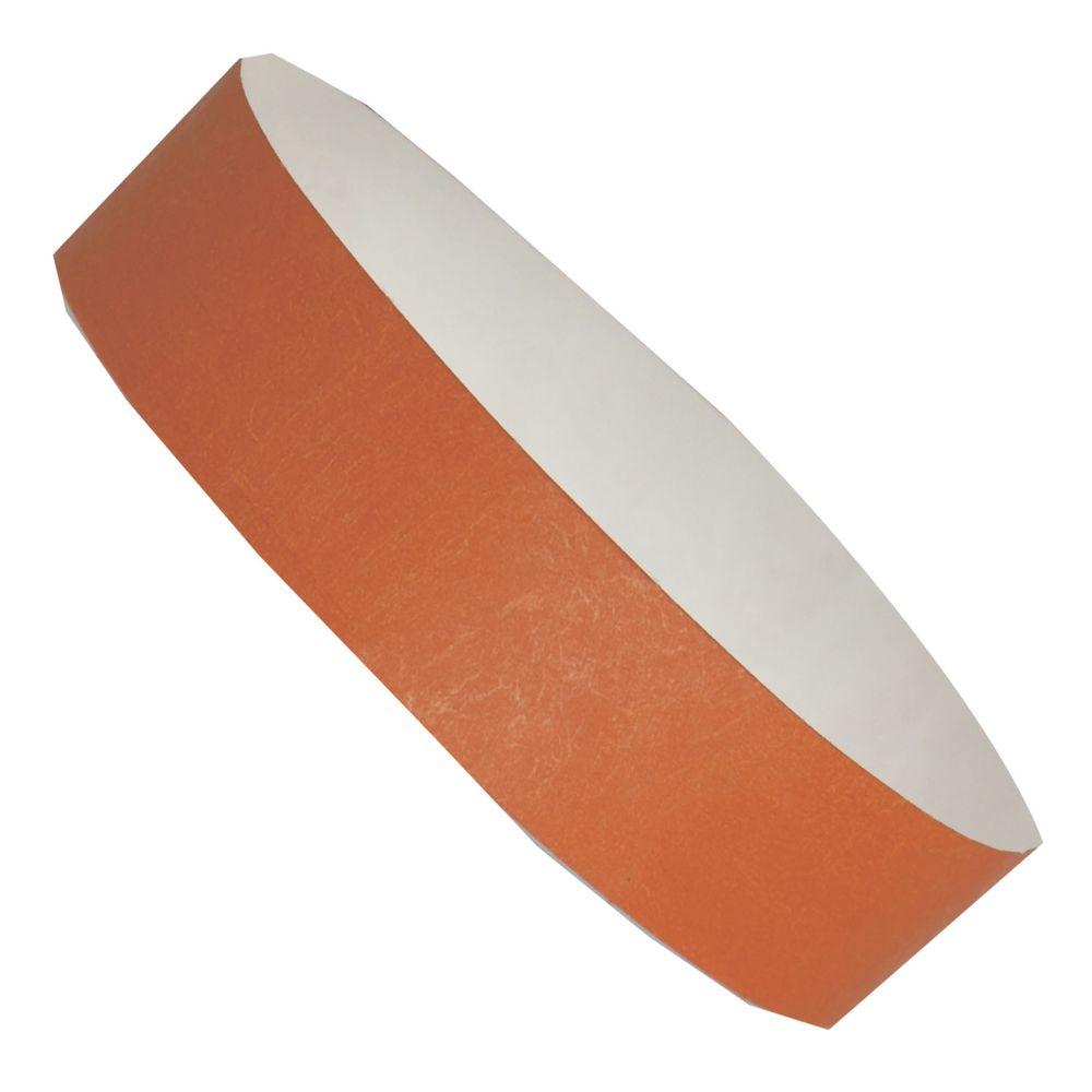 Označovací náramek oranžový s potiskem