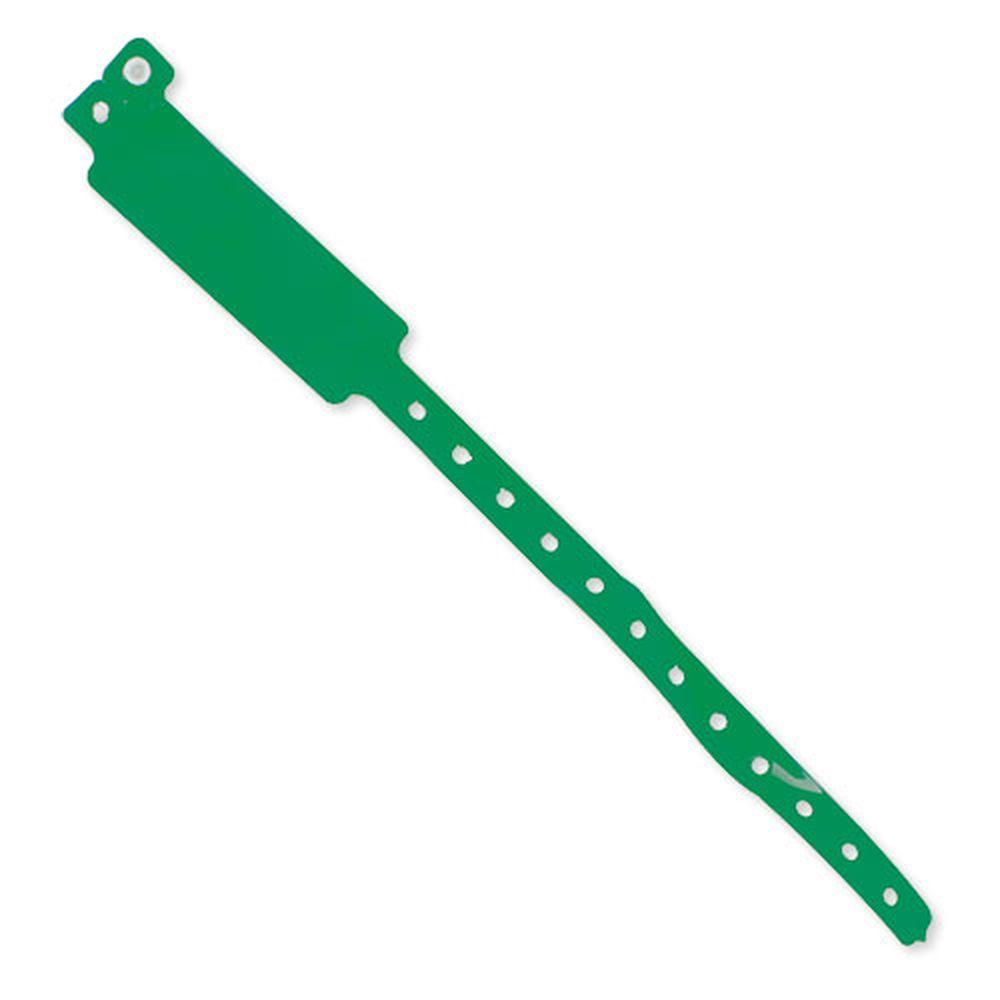 Registrační náramek zelený s potiskem