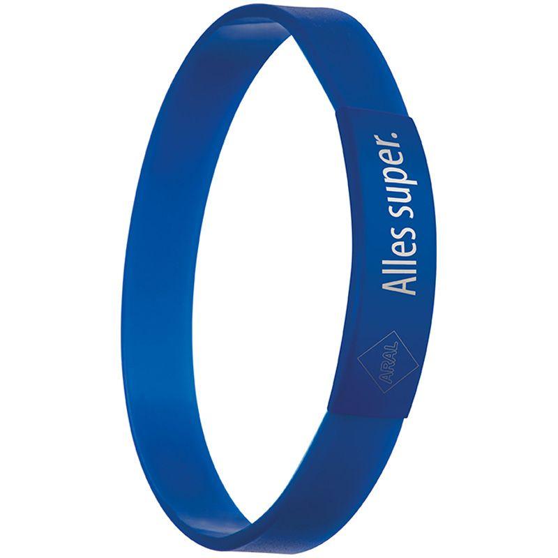Silikonový náramek modrý