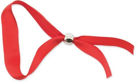 Náramek s kuličkovou sponou, červená